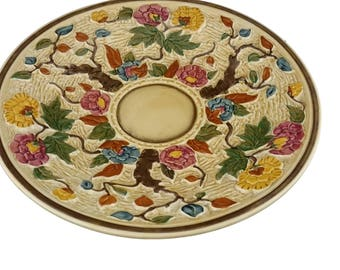 "Large  ""Indian Tree"" Charger Plate from HJ Wood"