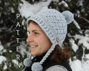 Seashell Crochet Hat Pattern, Pom pom Hat pattern, Crochet Hat Pattern