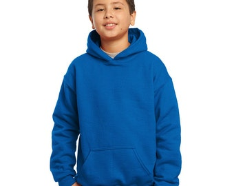 Youth Hoodie - Any Design in Our Shop on a Pullover Hoody with Custom Colors - Kids Hooded Sweatshirt