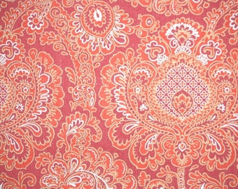 Retro Wallpaper by the Yard 70s Vintage Wallpaper – 1970s Red and Silver Paisley