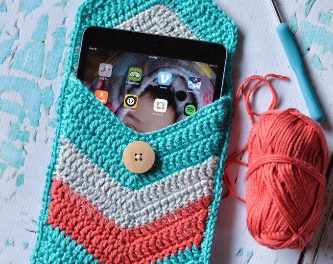 CROCHET PATTERN: Chevron Tablet Case Crochet pdf DOWNLOAD