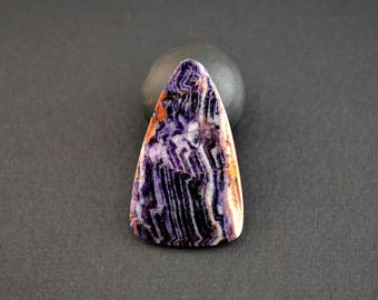 Fluorite natural stone cabochon 41 x 25 x 4 mm