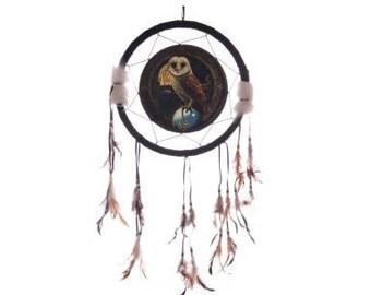 Dream Catcher, Dreamcatcher owl, barn owl at full moon