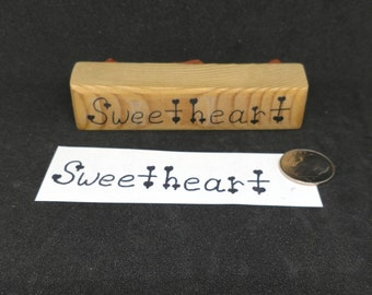 Sweetheart rubber stamp