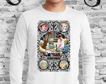 Golden Girls White Shirt. Blanche, Rose, Dorothy and Sophia. TV. Campy. Gay. Drag.
