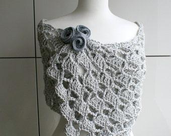Crochet pattern, Summer Evening wrap crochet pattern (145) Flowers pattern included!