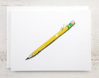 Pencil Note Card
