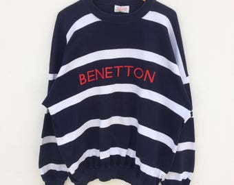 Rare!!! Vintage united colors  of benetton spell out crewneck jumper rare!!!