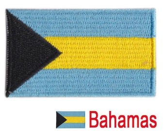Small Bahamas Flag Iron On Patch 2.5 x 1.5 inch Free Shipping