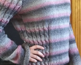 Women's Fitted Shadow/Ombre Sweater - Size M-L
