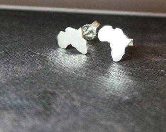 African earrings Africa studs African jewelry map of Africa