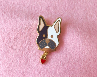Frenchie enamel pin - French bulldog pin , cute pin, Frenchie pin, dog lover gift, lapel pin badge, HibouDesigns