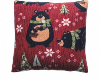 Warm Fuzzy ~ Minky Soft ~ Throw Pillows ~ Forest Bears ~ Woods, Man/Woman, Holiday, Christmas, Gift