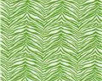 2 yards Premier Prints Tiger Chartreuse/supplies/Home and Living A12
