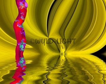 Sensual Abstraction 16266 Home Decor Art Digital Art Colorful Art Canvas Art Modern Art Conceptual Art Digital Abstract Art Multicolor Art