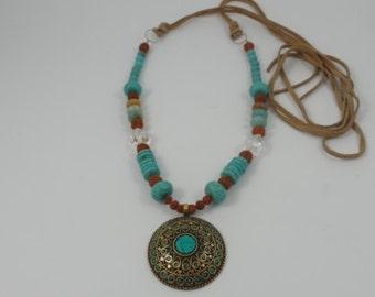 Bohemian necklace, chain necklace, Yoga Meditation