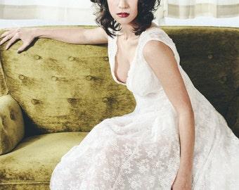 Annabeth-Italian Silk Lace  Gown-Bohemian Chic-Beach-Boho chic-Princess-Sweet and Innocent-Sexy Alluring-CRBoggs Original