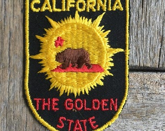 LAST ONE! California The Golden State Vintage Travel Souvenir Patch by Voyager - New in Original Package