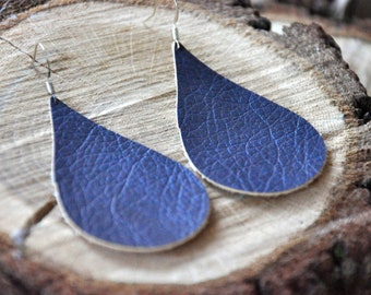 Faux Leather Earrings, Tear Drop Earrings
