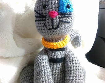 Crochet Gilbert cat Caillou inspired