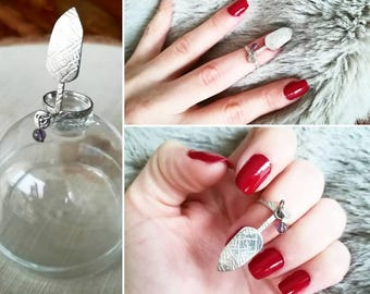 925 sterling silver nail ring