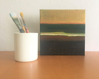 Striped Abstract Painting - Small Works - 17.002