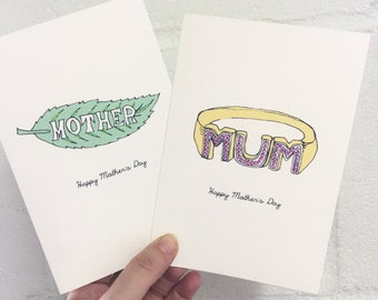 Jewellery Greeting Cards for Mother's Day