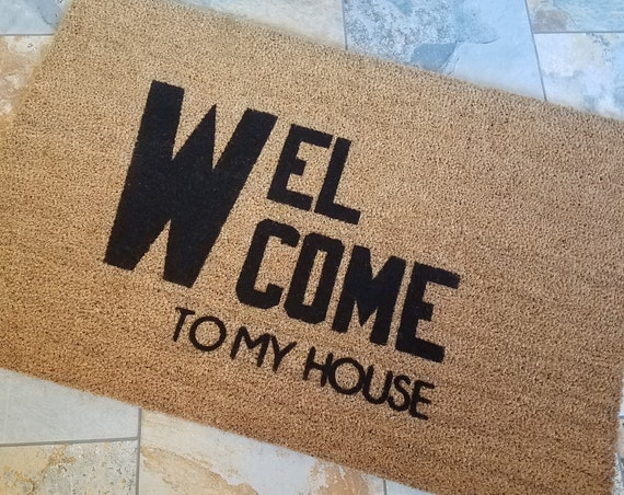 Welcome Doormat / Custom Doormat / Door Mat / Handmade Doormat / Housewarming Gifts / Unique Gift Ideas / Gifts for Her / Gifts for Him /