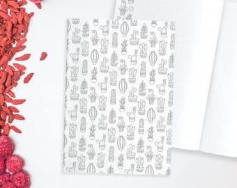 Cacti Dot Grid Notebook, Cacti Bullet Journal, Cactus Notebook Dot Grid, Dot Grid Journal, Bullet Journal Notebook, Adult Coloring Notebook