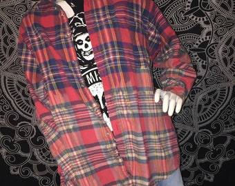 Red Bleached flannel XL