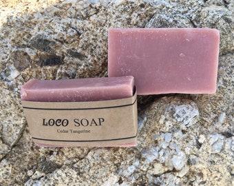 Cedar-Tangerine   Handmade Cold Processed Soap