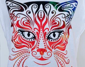 Fabulous cat shirt,Gift, Cat tee,Kitten shirt,Cat tee, cat shirt,tee,crazy cat lady.tee. T-shirt,women's clothing,cat lover Gift,cat lovers,