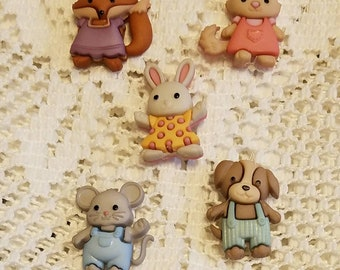 Kiddy Animals Refrigerator Magnets