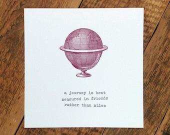 Bon Voyage Card; Friendship Card; Friend Card; BFF Card; Goodbye Card; Best Friend Card; Travel Card; GC276