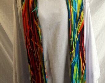 Sea of Reeds cotton clergy stole for ordinary time