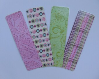 Bookmarks >> set of 4, bookmark, bibliophile, book reader, book