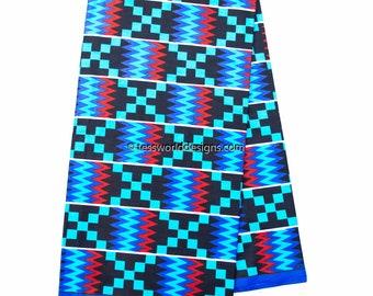 Wholesale Kente print fabric, 6 yards/ Wedding Kente print/ Kente / Kente Cloth/ Prom dress fabric/ African Fabric / KF308