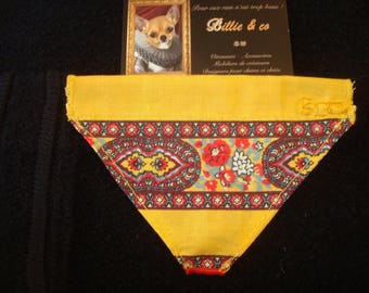 Provence interchangeable dog collar bandana