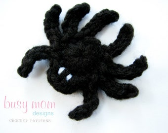 CROCHET PATTERN - Simple Spider Appliqué - Motif - Embellishment - PDF 207 - Sell what you Make
