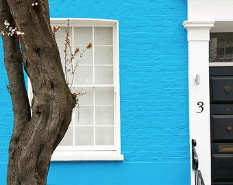 Notting Hill Photography - London Print - Blue House
