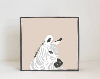 zebra safari nursery art boho modern nursery animal prints jungle nursery decor boho art print childrens room decor redtilestudio