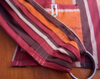 Ready to ship !! Ring Sling baby carrier ~Toto Ring sling, baby wrapsling,baby newborn -toddler carrier front back carries