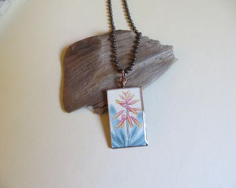 NBX02-09: Aloe plicatilis, fan aloe, botanical print, vintage art, mixed media, grad gift, gardener gift, botanist, nature, plant pendant