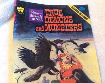 """Whitman Comics Ripley's Believe it or Not """"True Demons and Monsters"""" Ravens of Doom comic book c. Dec 1978. Published in USA."""