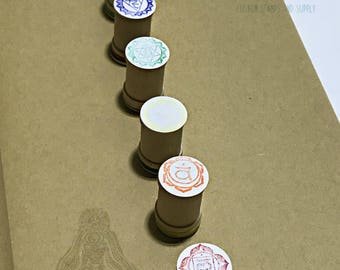 Chakra Rubber Stamp Set - 7 chakra symbols **new packaging**