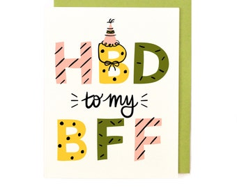 HBD BFF Birthday Card