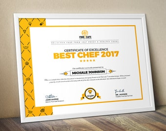 Certificate template etsy modern certificate template multipurpose certificate template psd and eps certificate business award certificate yelopaper Image collections