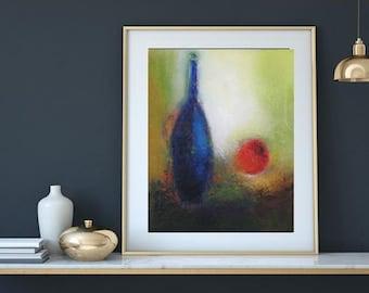 "Oil on canvas 16""x20"" modern still life"