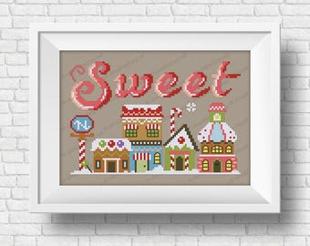 Sweet - Christmas Wor(l)ds - PDF cross stitch pattern