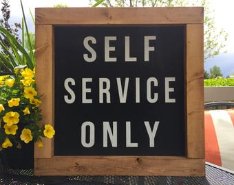 """Self Service Only 15""""x15"""" 